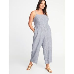 Linen Striped Old Navy Jumpsuit